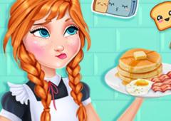 Anna prepara o Café da Manhã