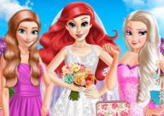 Ariel Vestida de Noiva