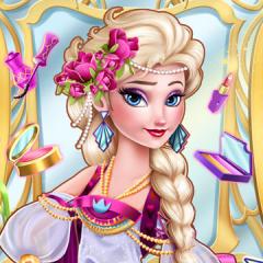 Jogo Arrume Elsa de Estilo Vintage