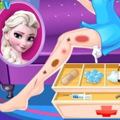 Jogo Cuide das Pernas de Elsa