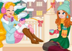 Dia de Inverno Com as Princesas