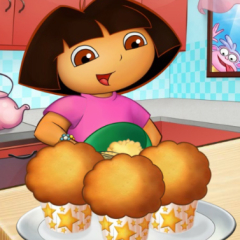 Jogo Dora Decora Cupcakes
