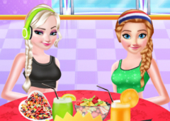 Elsa e Anna na Academia