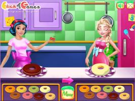 Elsa e Branca de Neve Preparam Rosquinhas - screenshot 1