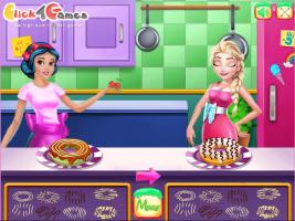 Elsa e Branca de Neve Preparam Rosquinhas - screenshot 2
