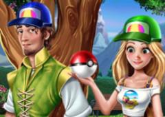 Elsa e Rapunzel Pegam Pokémons