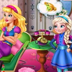 Jogo Elsa Enrolando Com Barbie