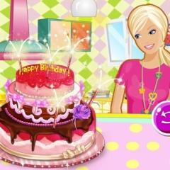 Jogo Faça Um Bolo de Aniversário com Barbie