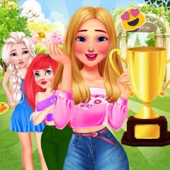 Jogo Limpe o Jardim da Barbie, da Elsa e da Ariel