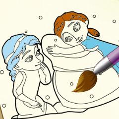 Jogo Livro de Colorir Frozen