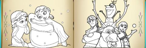 Livro de Colorir Frozen