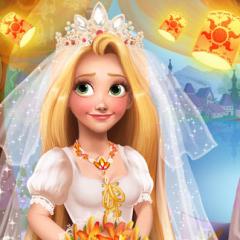 Jogo Maquie e Vista Rapunzel Noiva
