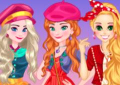 Princesas Disney viajando para Paris