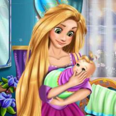 Jogo Rapunzel Cuida do Bebê