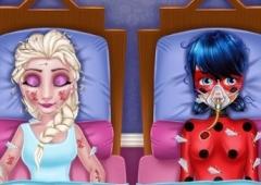 Salve a Ladybug e a Elsa