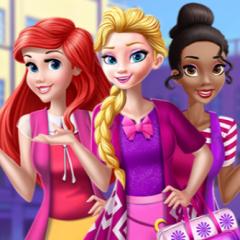 Jogo Tiana, Ariel e Elsa na Escola das Princesas