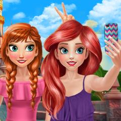Jogo Uma Selfie com a Anna e a Ariel