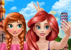 Uma Selfie com a Anna e a Ariel