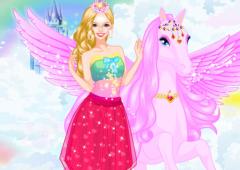 Vista Barbie Com Pégaso