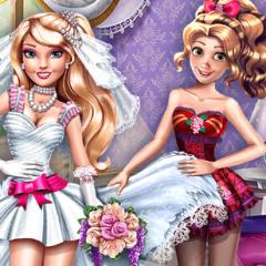 Jogo Vista a Barbie e a Rapunzel Para o Casamento