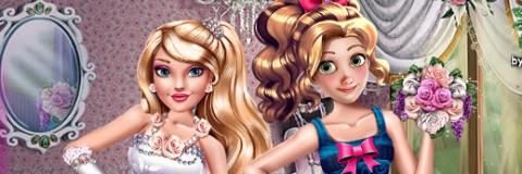 Vista a Barbie e a Rapunzel Para o Casamento