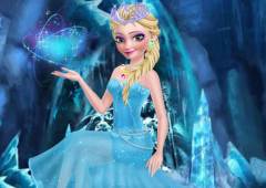 Vista Elsa de Rainha do Gelo